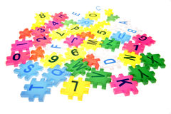 Letters & numbers Royalty Free Stock Photos