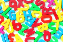 Letters and numbers Royalty Free Stock Photos