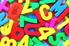 Letters and numbers Royalty Free Stock Images