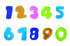 Letters and numbers Royalty Free Stock Photo