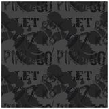 Letters and numbers abstract seamless pattern. For web, textile and print. Stains and postage stamps on pattern Royalty Free Stock Image