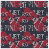 Letters and numbers abstract seamless pattern. For web, textile and print. Stains and postage stamps on pattern Stock Image