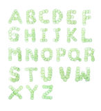 Letters and numbers alphabet of  cucumbers Royalty Free Stock Image