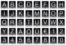 Letters and numbers buttons Stock Photos