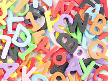 Letters and numbers and colors Royalty Free Stock Photo