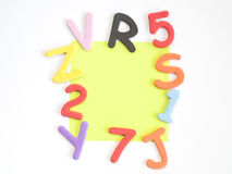 Letters and numbers and colors Stock Photography