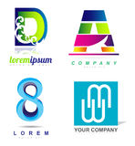 Letters and numbers icon logo Stock Image
