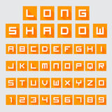 Letters and Numbers with Long Shadow Stock Image
