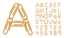 Letters and numbers orange clips Royalty Free Stock Photo