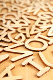 Letters and numbers Royalty Free Stock Image
