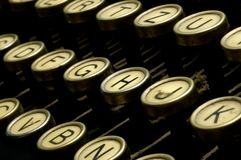 Letters of an old typewriter Royalty Free Stock Photo