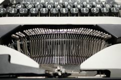 Letters on an old typewriter. Royalty Free Stock Images