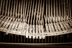 The letters on an old typewriter. Stock Image