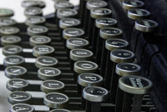 Letters on an old typewriter Stock Photography