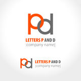 Letters P and D. Concept logo design. Vector illustration Royalty Free Stock Image