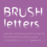 Letters painted with brush Royalty Free Stock Photography