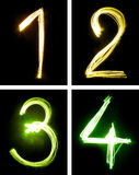 Letters painted with light vector illustration