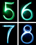 Letters painted with light Royalty Free Stock Photography