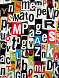 Letters pattern Stock Photo