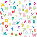 Letters pattern Stock Image