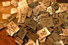 letters pewter Royaltyfri Bild