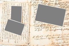 Letters and pictures royalty free stock photos
