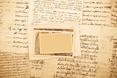 Letters and pictures Royalty Free Stock Images