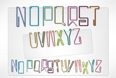 Letters pin (N-Z). Pin in different letter shapes. office daily items Royalty Free Stock Photos
