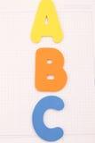 letters plast- Royaltyfria Foton