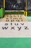 Letters on playground stock photo