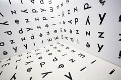 Letters of the polish alphabet Royalty Free Stock Photography