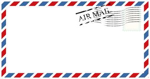 Letters and postmarks, airmail designs vector royalty free illustration
