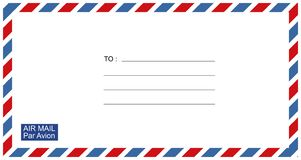 Letters and postmarks, airmail designs vector stock illustration