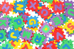 Letters-puzzle Stock Image