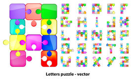 Letters puzzle Royalty Free Stock Photo