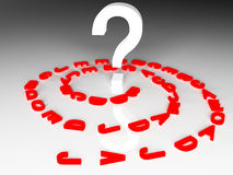 The letters and a question mark Stock Image