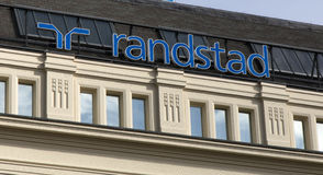 Letters randstad on a facade in Amsterdam Stock Photography