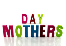Mothers day text Royalty Free Stock Images