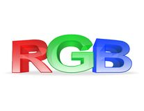 The letters rgb on white background Stock Images