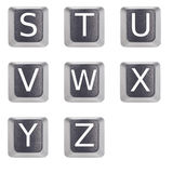 Letters s to z Stock Image