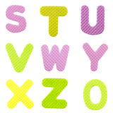 Letters from S to Z Stock Photos