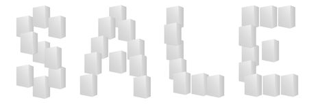 Letters of sale  white boxes on white background Royalty Free Stock Image