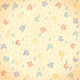 Letters seamless background. Vector illustration Royalty Free Stock Images
