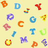 Colorful letters ABC seamless pattern. Illustration stock illustration
