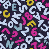 Letters Seamless Pattern Stock Images