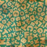 Letters. Seamless pattern. Royalty Free Stock Photos