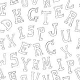 Letters seamless pattern Stock Photo