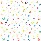 The letters. seamless texture Stock Image