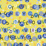 The letters. seamless texture Stock Photography