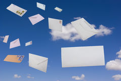 Letters in the sky Stock Image